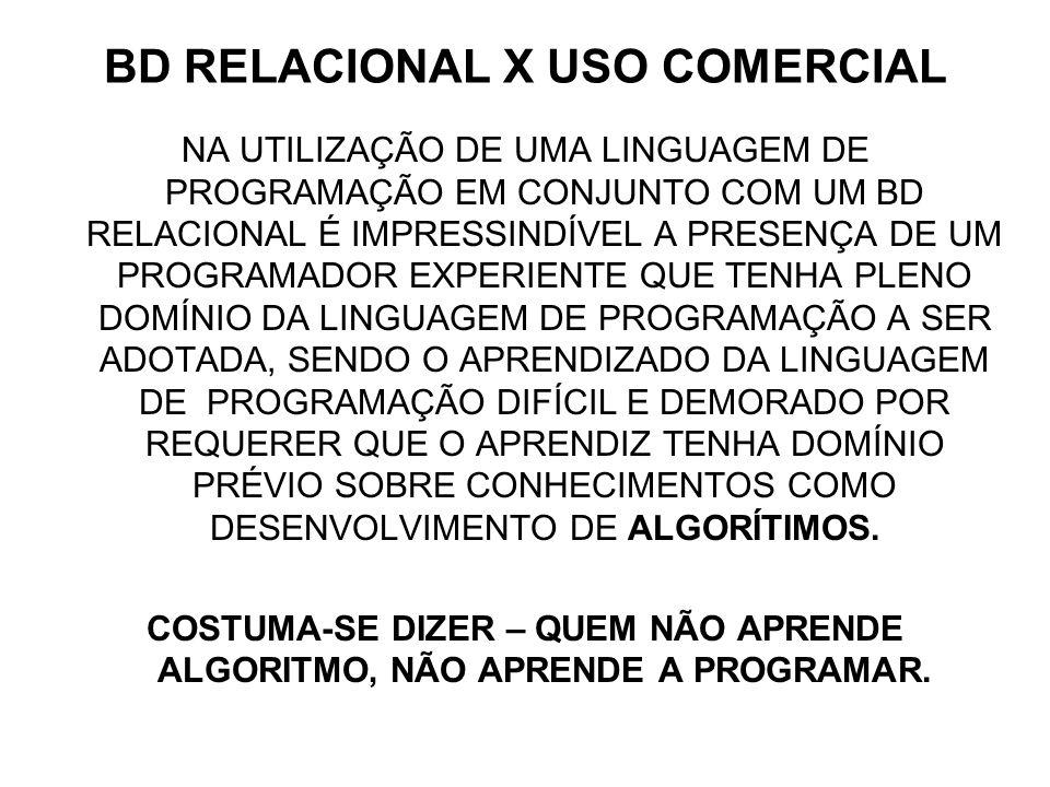 BD RELACIONAL X USO COMERCIAL
