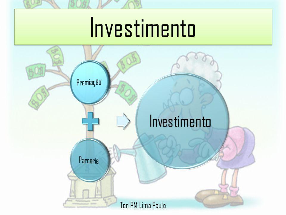 Investimento Premiação Parceria Investimento Ten PM Lima Paulo
