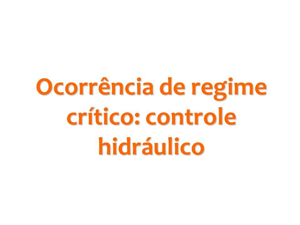 Ocorrência de regime crítico: controle hidráulico