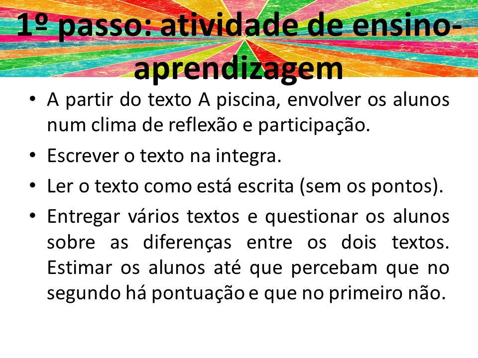 1º passo: atividade de ensino-aprendizagem