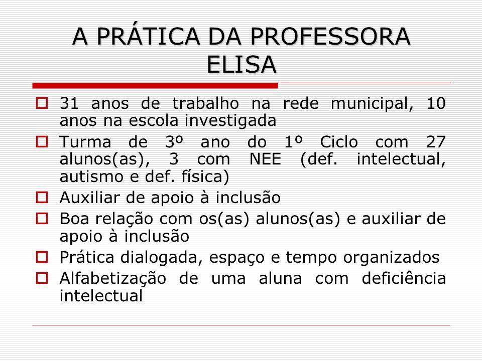 A PRÁTICA DA PROFESSORA ELISA