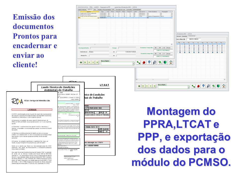 Emissão dos documentos