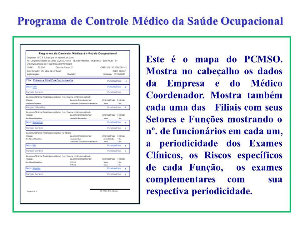 Programa de Controle Médico da Saúde Ocupacional
