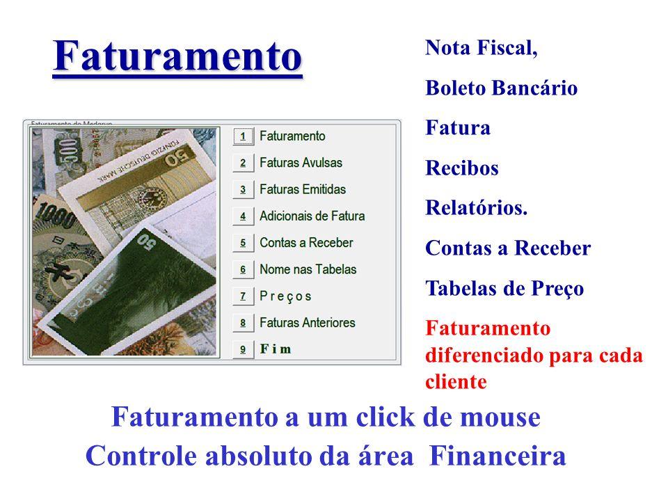 Faturamento a um click de mouse Controle absoluto da área Financeira