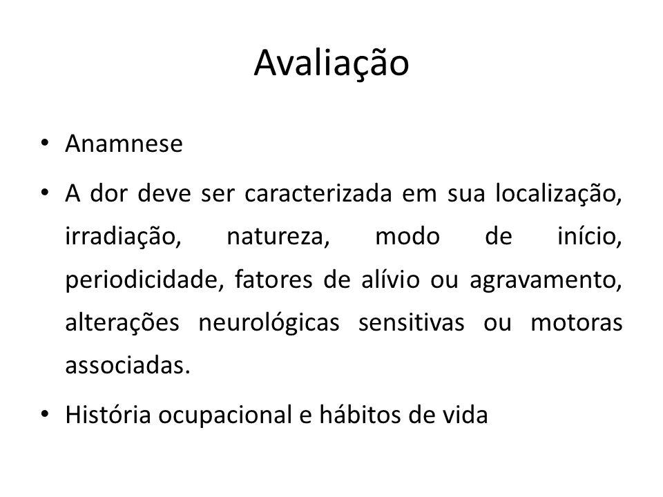 Avaliação Anamnese.