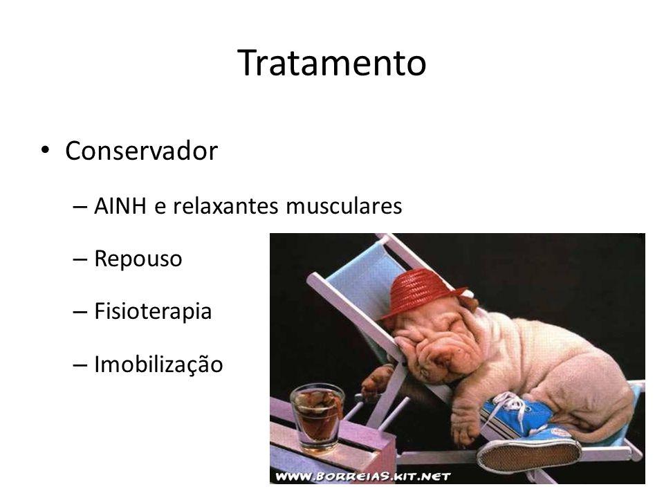 Tratamento Conservador AINH e relaxantes musculares Repouso