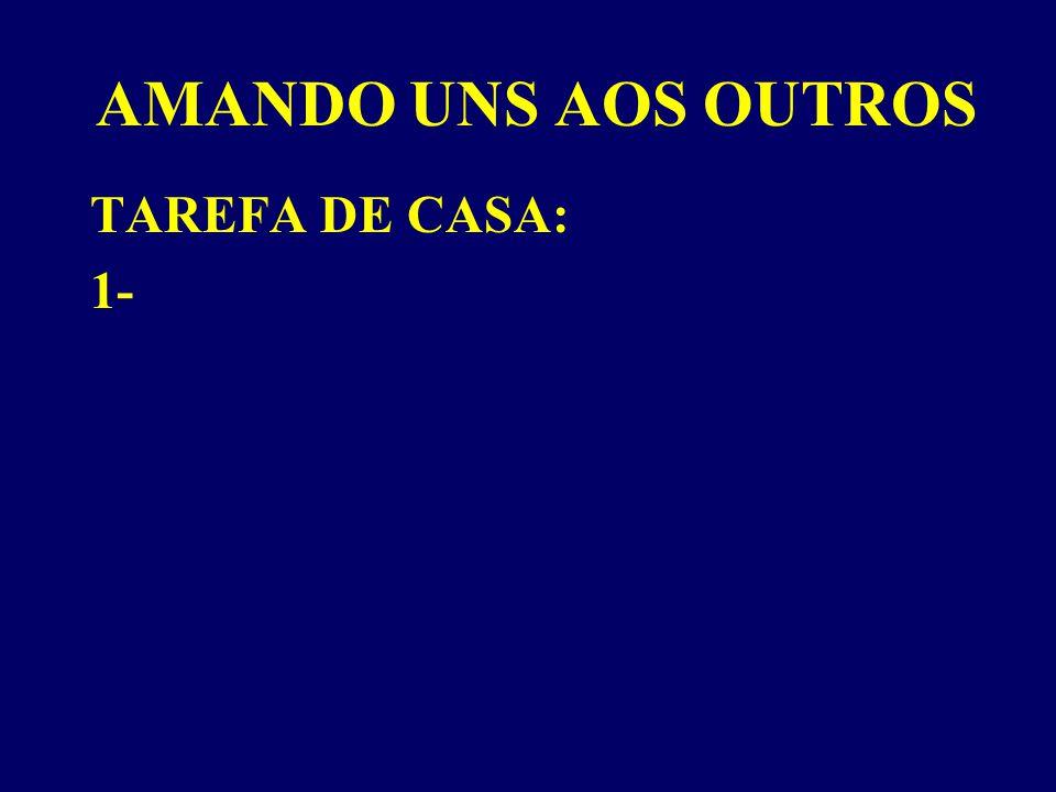 AMANDO UNS AOS OUTROS TAREFA DE CASA: 1-