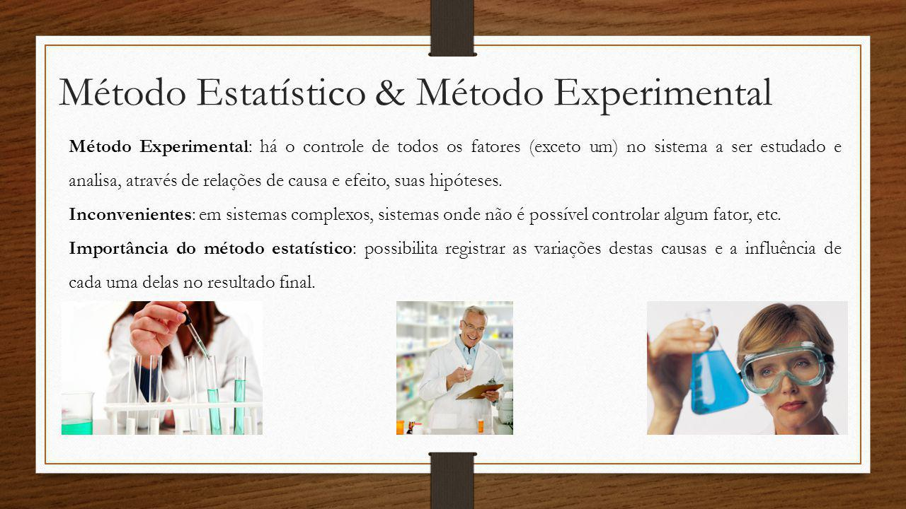 Método Estatístico & Método Experimental