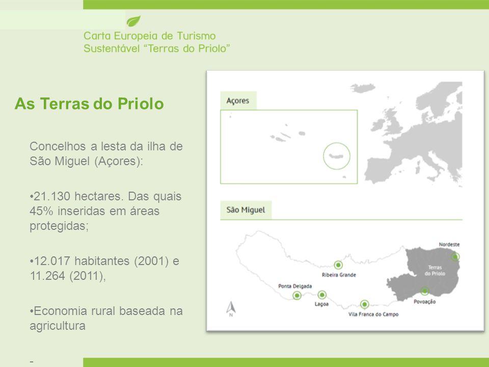 As Terras do Priolo Concelhos a lesta da ilha de São Miguel (Açores):