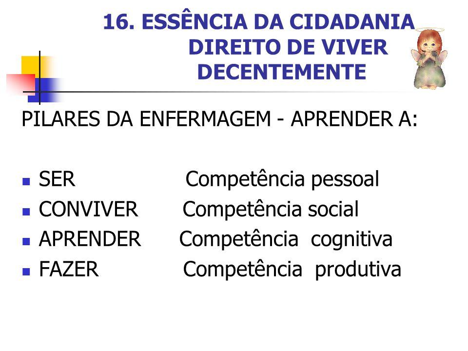 16. ESSÊNCIA DA CIDADANIA DIREITO DE VIVER DECENTEMENTE