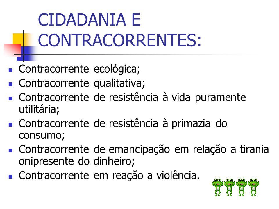 CIDADANIA E CONTRACORRENTES: