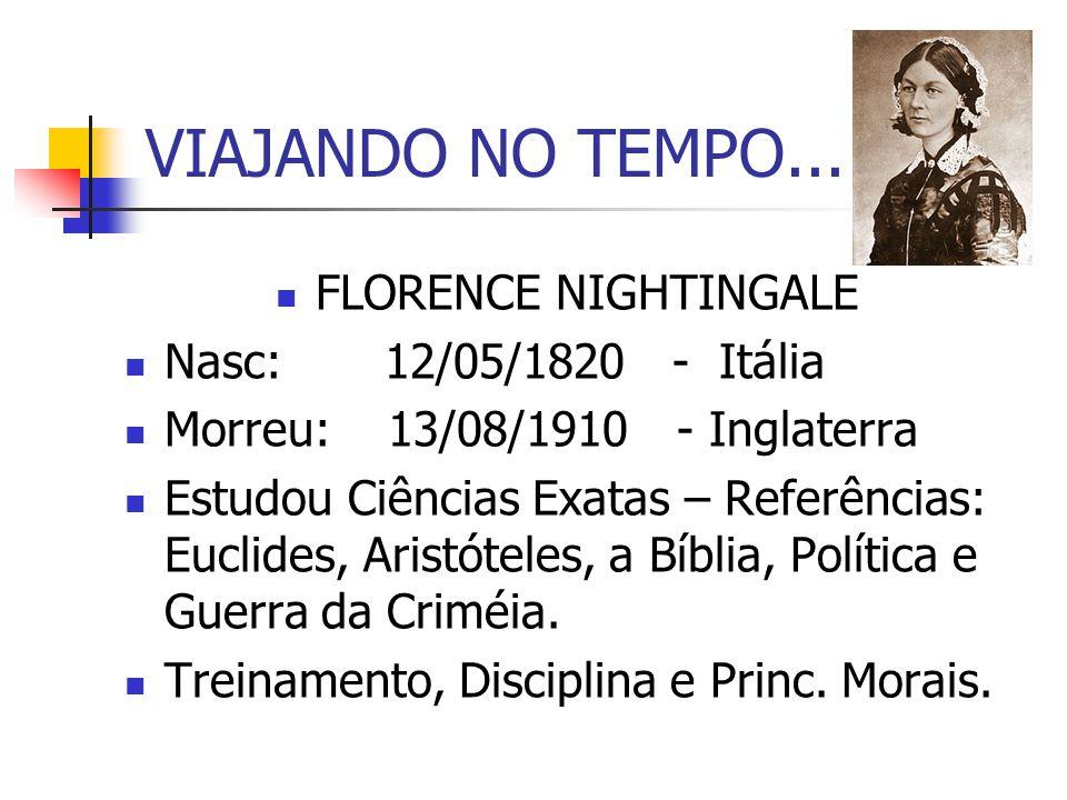 VIAJANDO NO TEMPO... FLORENCE NIGHTINGALE Nasc: 12/05/1820 - Itália