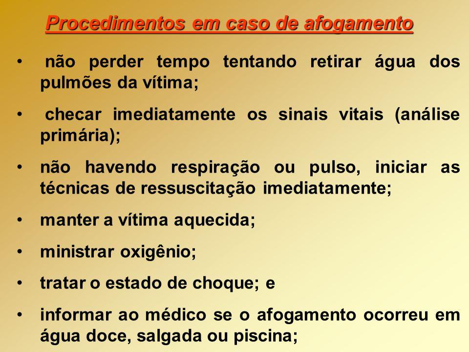 Procedimentos em caso de afogamento
