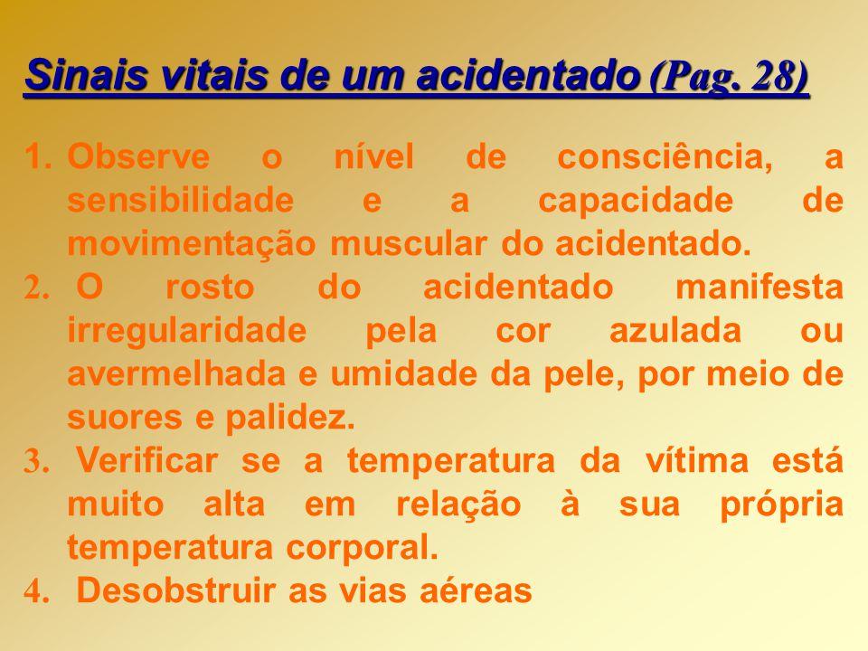Sinais vitais de um acidentado (Pag. 28)