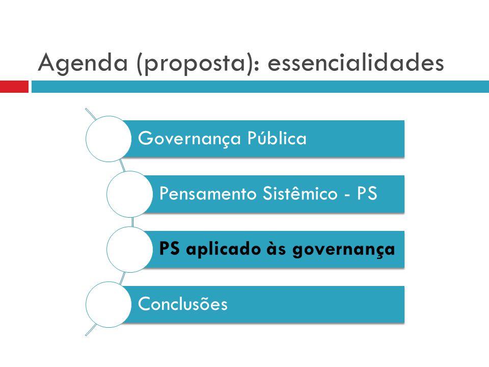 Agenda (proposta): essencialidades
