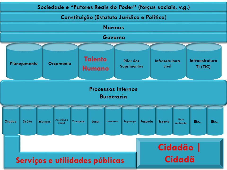 Cidadão | Cidadã Serviços e utilidades públicas Talento Humano