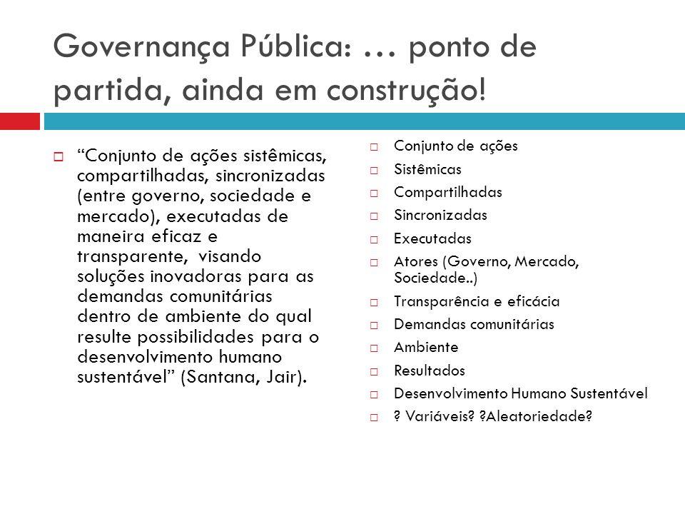 Governança Pública: … ponto de partida, ainda em construção!