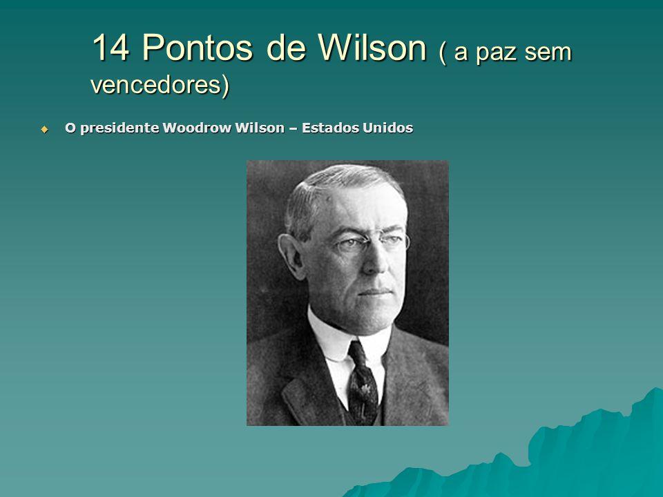 14 Pontos de Wilson ( a paz sem vencedores)