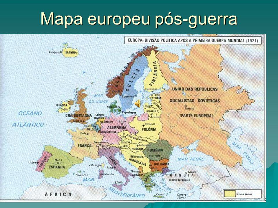 Mapa europeu pós-guerra
