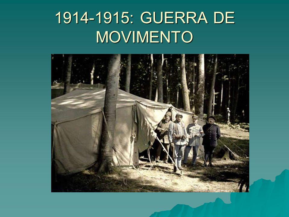 1914-1915: GUERRA DE MOVIMENTO