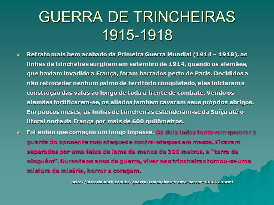 GUERRA DE TRINCHEIRAS 1915-1918