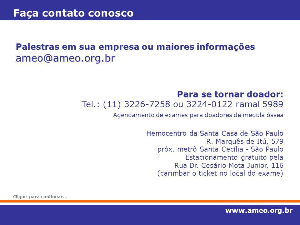 Faça contato conosco ameo@ameo.org.br