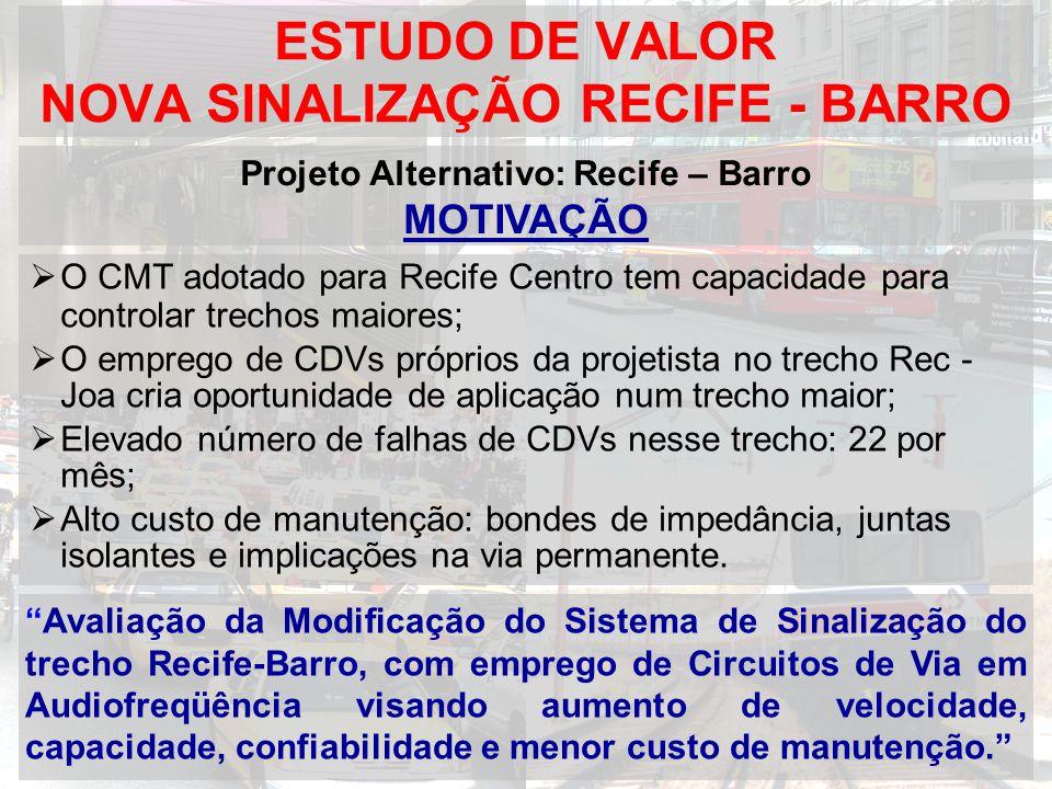 ESTUDO DE VALOR NOVA SINALIZAÇÃO RECIFE - BARRO