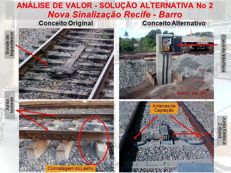 ANÁLISE DE VALOR - SOLUÇÃO ALTERNATIVA No 2 Nova Sinalização Recife - Barro
