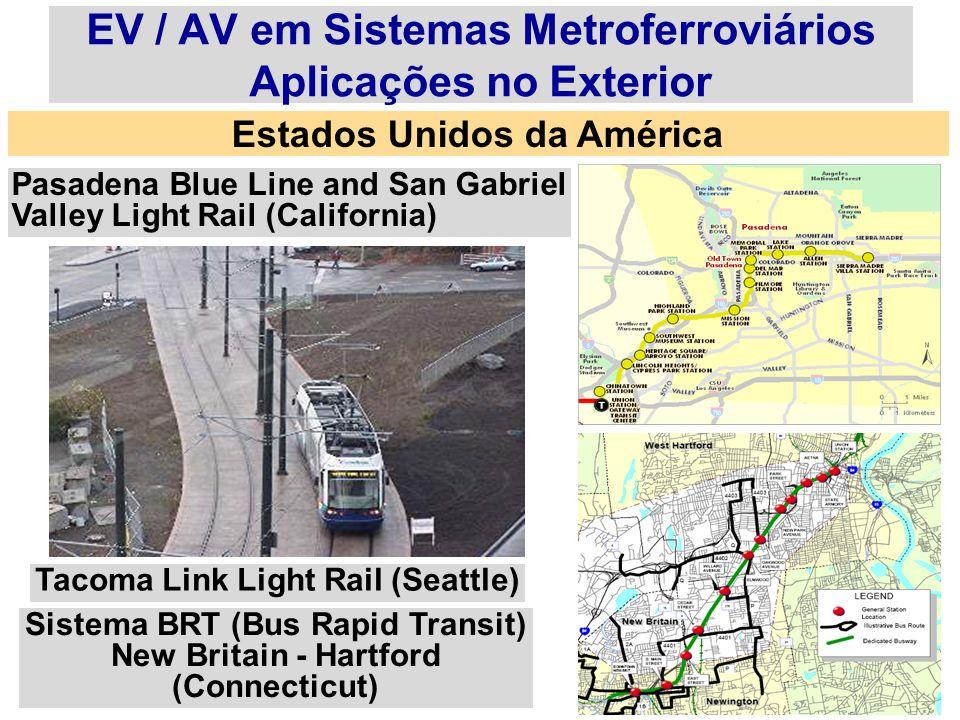 EV / AV em Sistemas Metroferroviários Aplicações no Exterior
