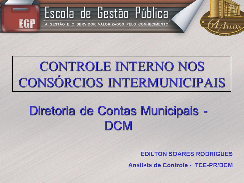 CONTROLE INTERNO NOS CONSÓRCIOS INTERMUNICIPAIS