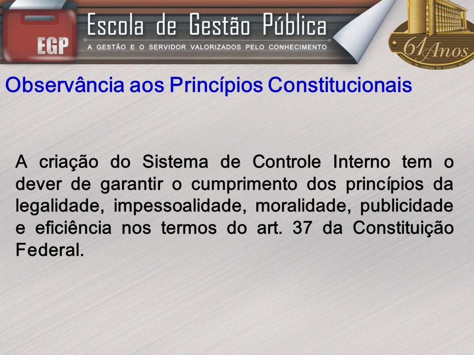Observância aos Princípios Constitucionais