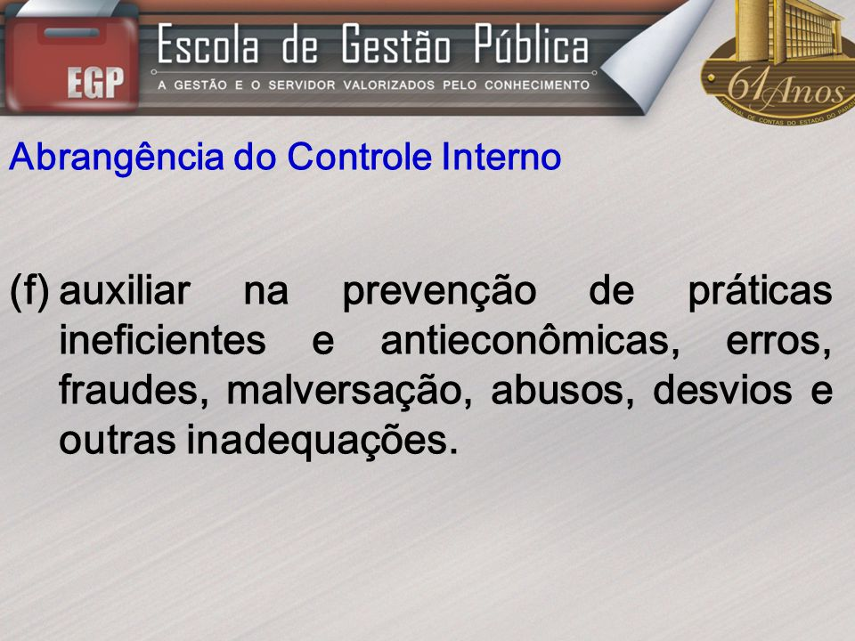 Abrangência do Controle Interno