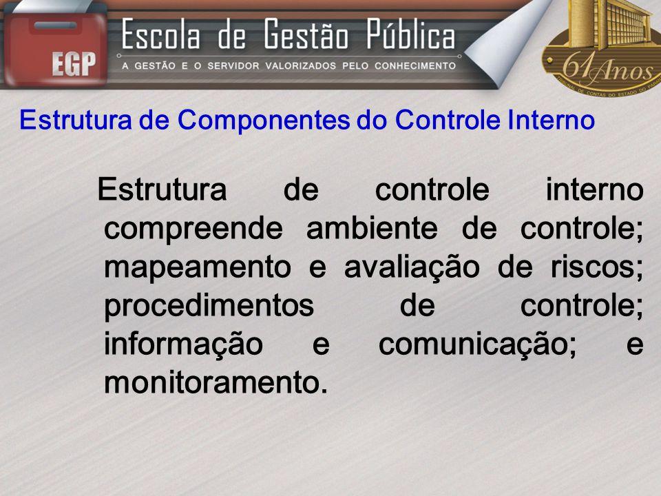 Estrutura de Componentes do Controle Interno