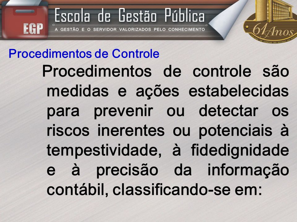 Procedimentos de Controle