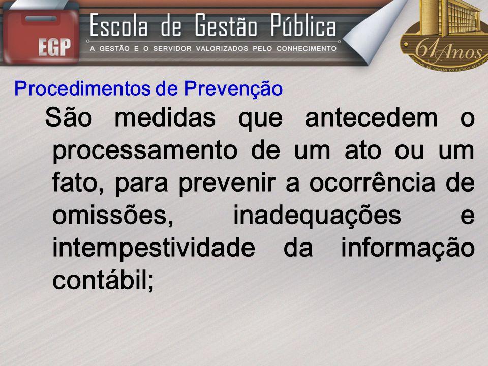 Procedimentos de Prevenção