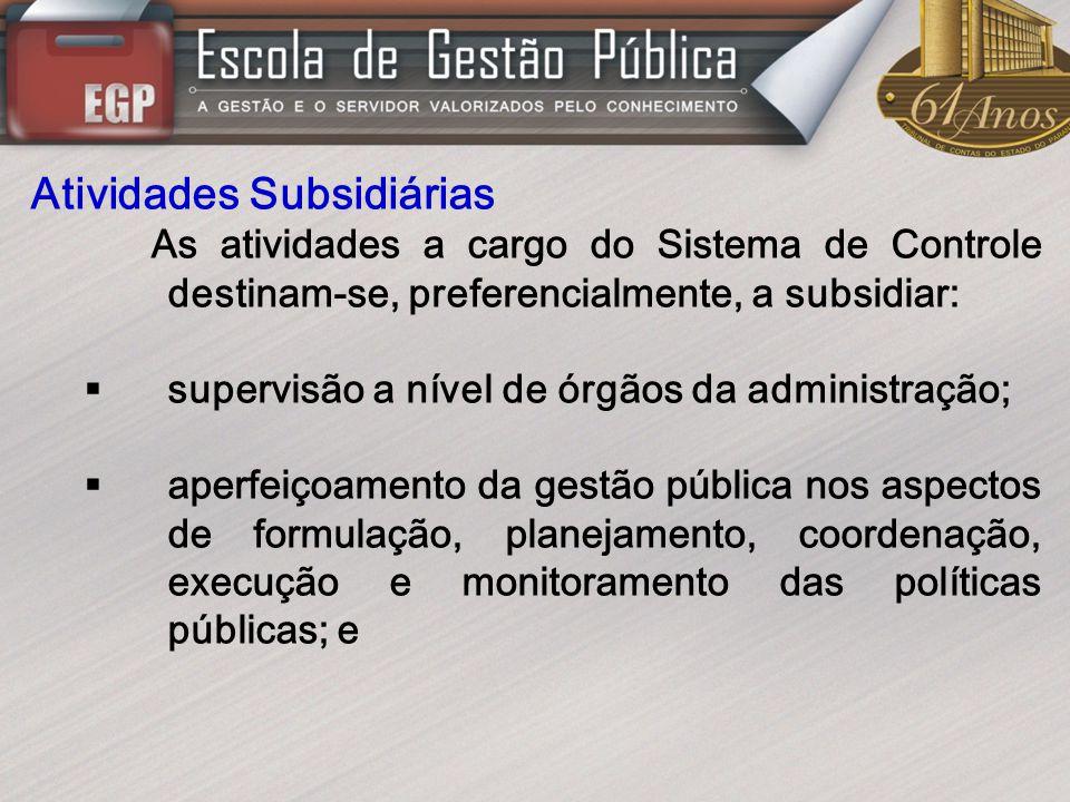 Atividades Subsidiárias