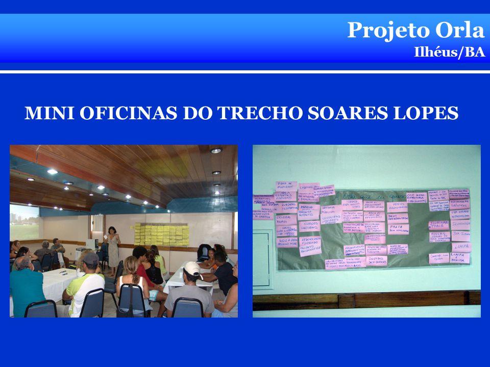 Projeto Orla Ilhéus/BA MINI OFICINAS DO TRECHO SOARES LOPES