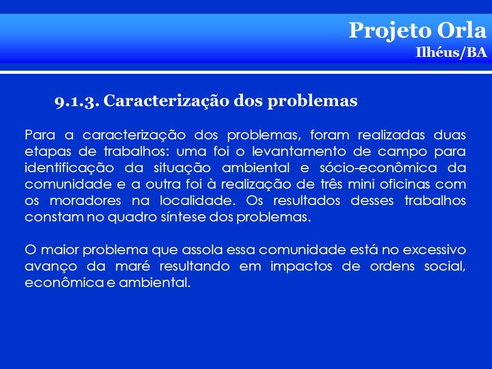 Projeto Orla 9.1.3. Caracterização dos problemas Ilhéus/BA
