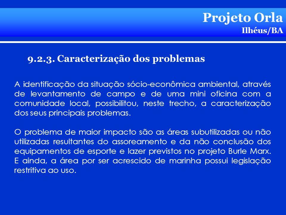 Projeto Orla 9.2.3. Caracterização dos problemas Ilhéus/BA