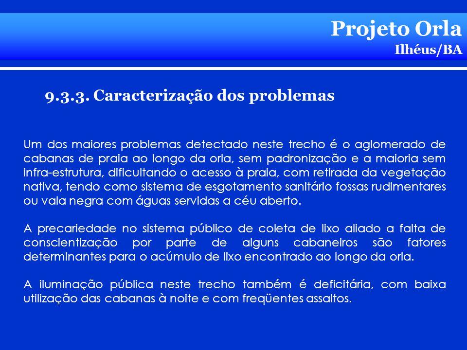 Projeto Orla 9.3.3. Caracterização dos problemas Ilhéus/BA