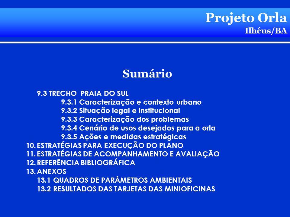 Projeto Orla Sumário Ilhéus/BA 9.3 TRECHO PRAIA DO SUL