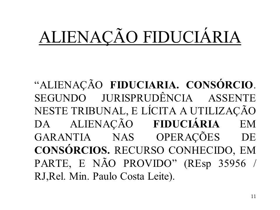 ALIENAÇÃO FIDUCIÁRIA