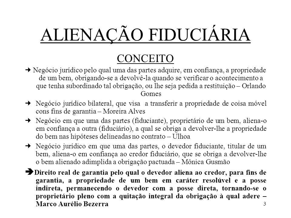 ALIENAÇÃO FIDUCIÁRIA CONCEITO