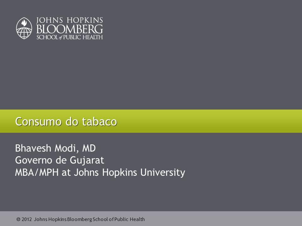 Consumo do tabaco Bhavesh Modi, MD Governo de Gujarat