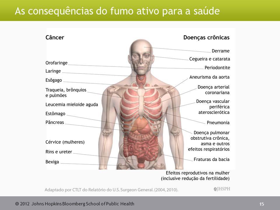 As consequências do fumo ativo para a saúde
