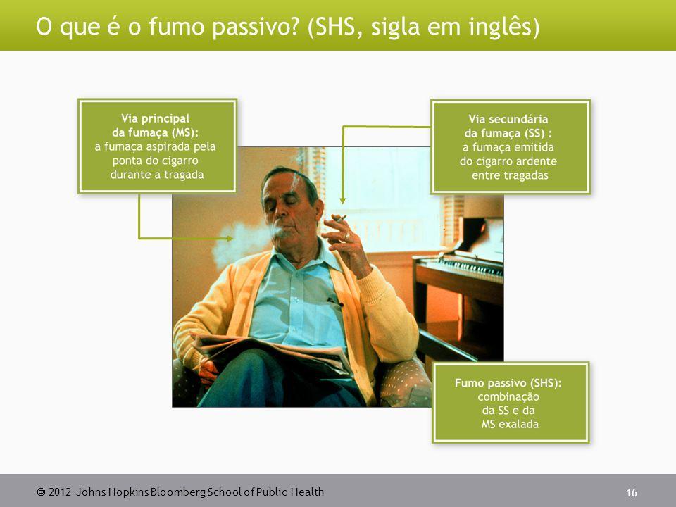 O que é o fumo passivo (SHS, sigla em inglês)