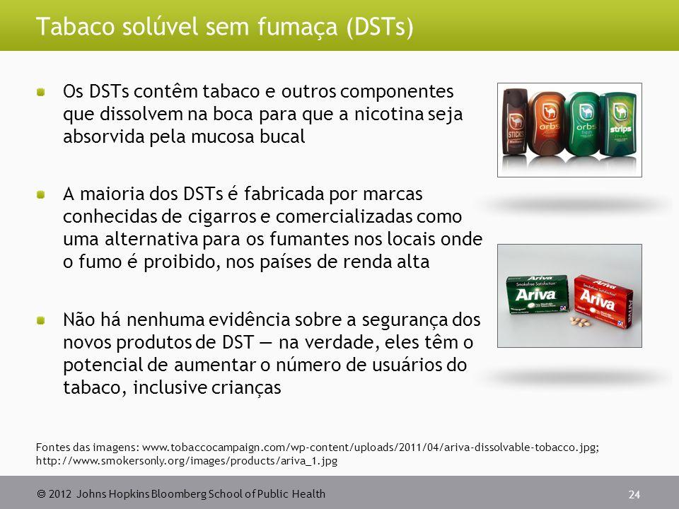 Tabaco solúvel sem fumaça (DSTs)