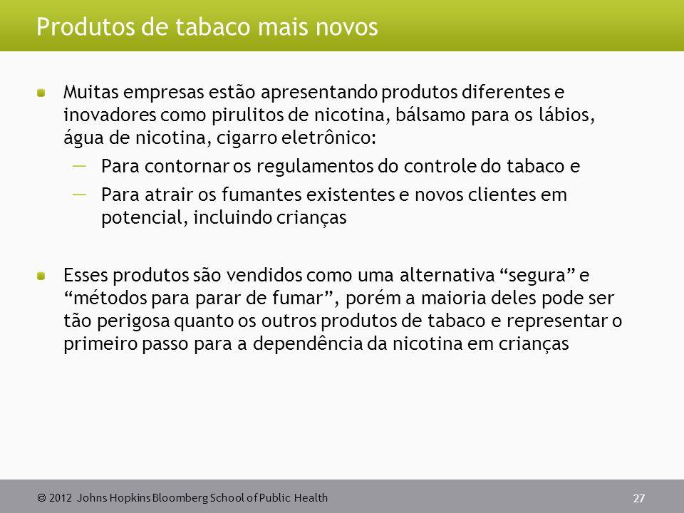 Produtos de tabaco mais novos
