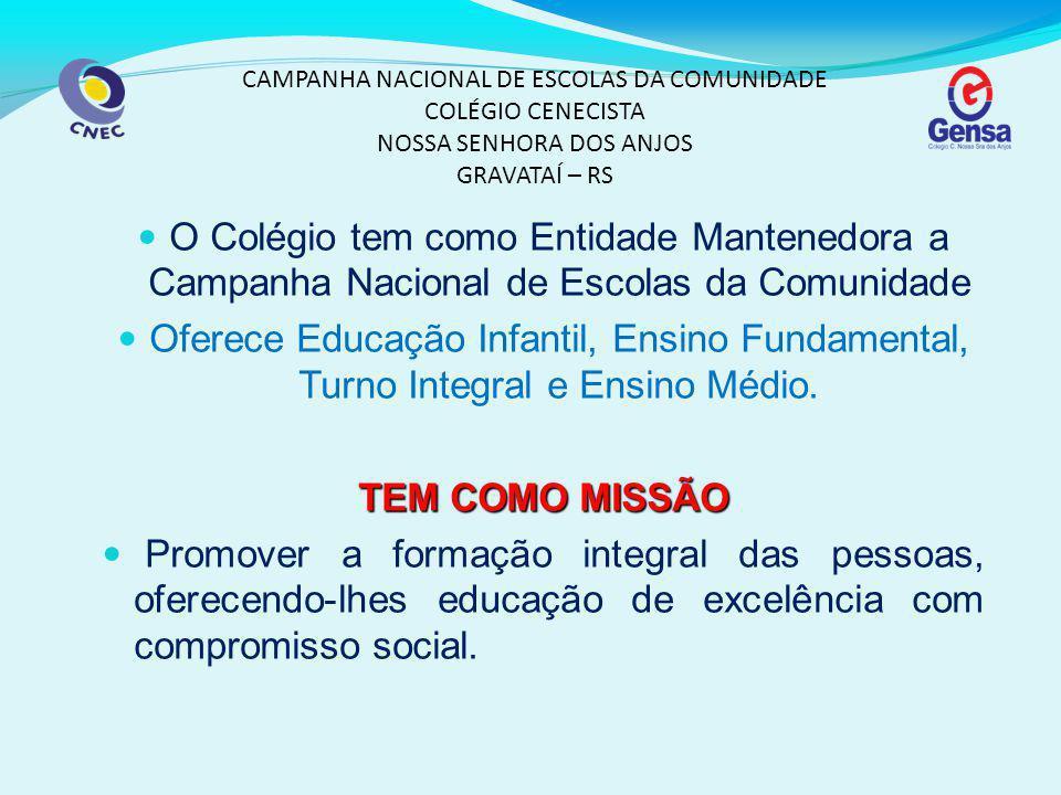 CAMPANHA NACIONAL DE ESCOLAS DA COMUNIDADE COLÉGIO CENECISTA