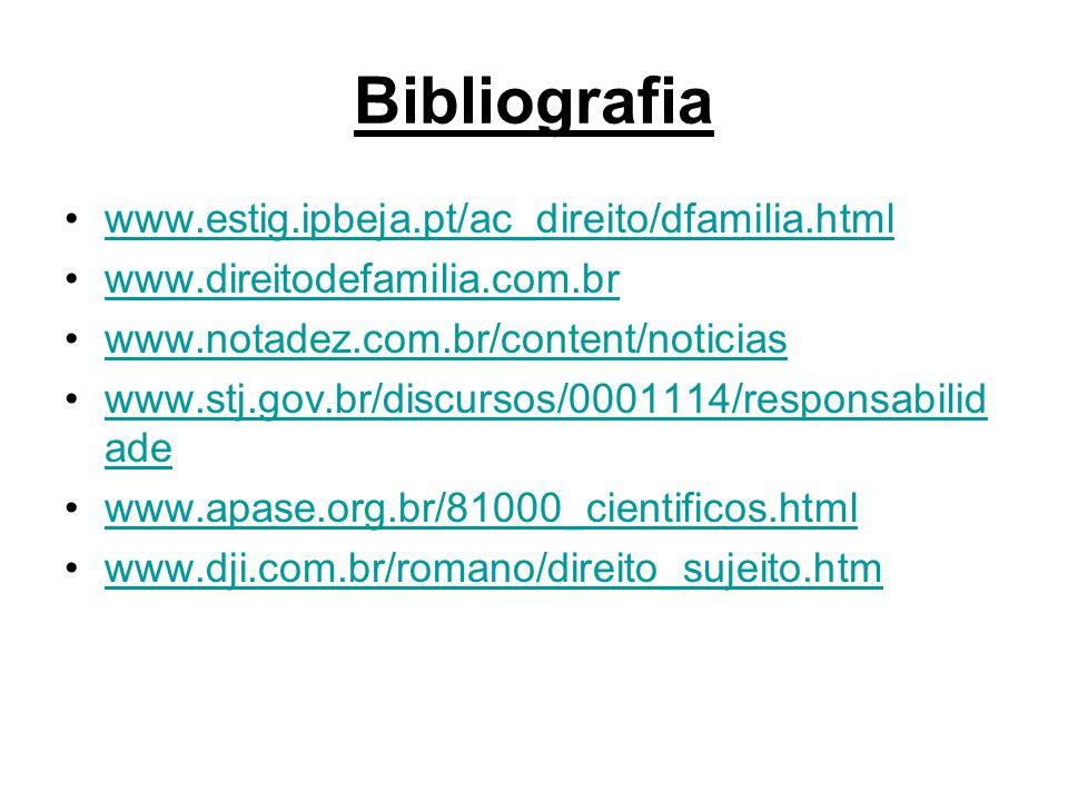 Bibliografia www.estig.ipbeja.pt/ac_direito/dfamilia.html